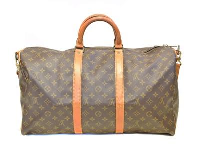 Lot 45-A Louis Vuitton monogram Keepall Bandoulière 55 luggage bag
