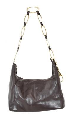 Lot 86 - A Gucci brown hobo handbag