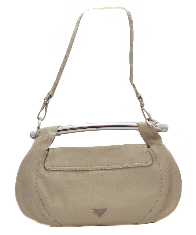 Lot 7 - A Prada Bar Handle leather shoulder bag