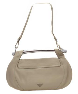Lot 7-A Prada Bar Handle leather shoulder bag