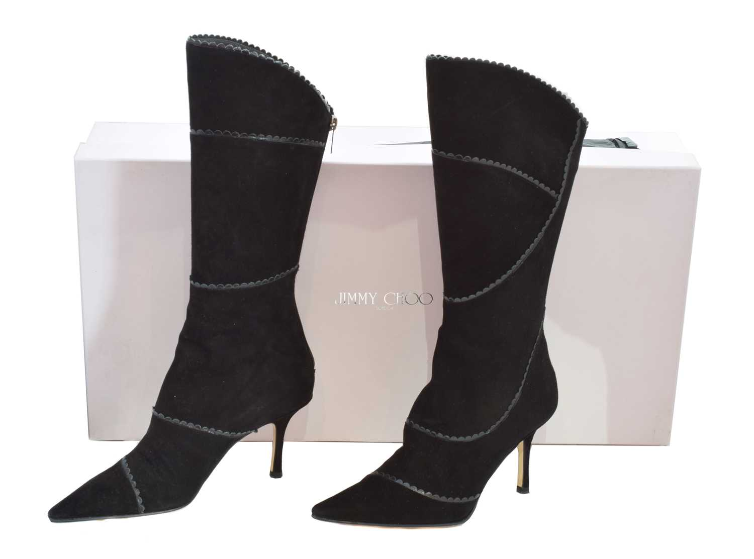 Lot 135 - A pair of Jimmy Choo heeled boots