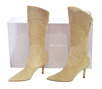Lot 25-A pair of Jimmy Choo heeled boots