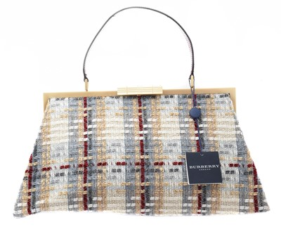 Lot 1 - A Burberry tweed bag