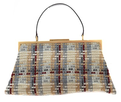 Lot 1 - A Burberry tweed bag