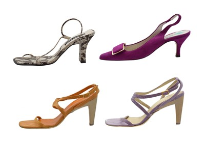 Lot -Four pairs of designer heels