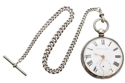 Lot 80 - A silver open face pocket watch