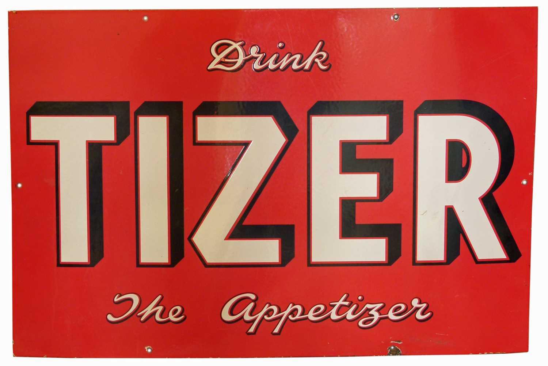 Lot 45 - Tizer advertising Enamel sign