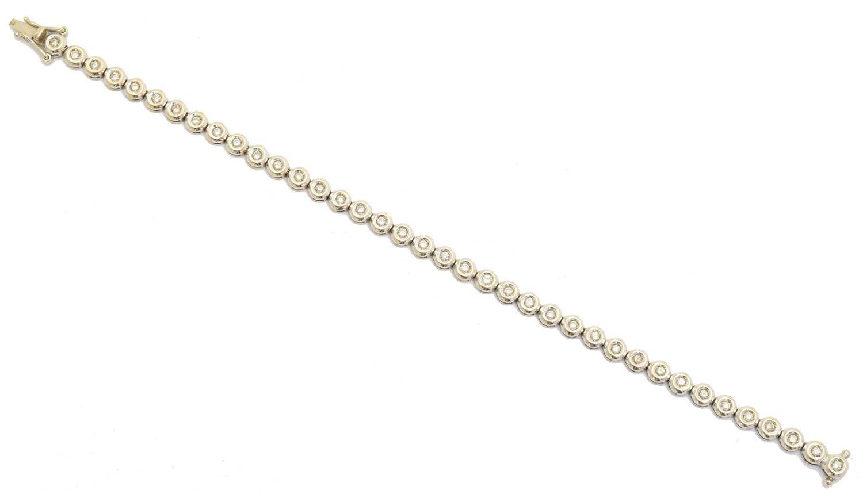 Lot 11 - A diamond bracelet