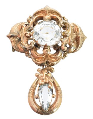 Lot 28-A Victorian aquamarine brooch