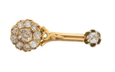 Lot 48-A Victorian diamond Halley's Comet brooch