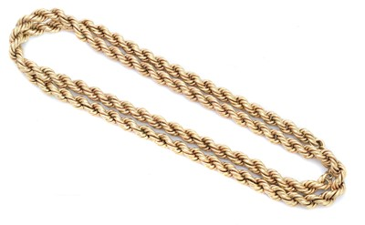 Lot 122 - A 9ct gold chain necklace