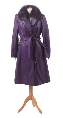 Lot A leather coat by Escada