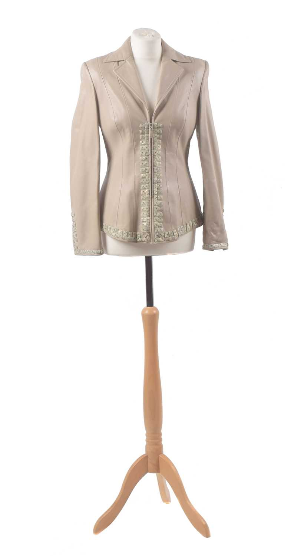 Lot 45 - A leather jacket by Escada