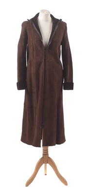 Lot 27 - A suede coat by Miu Miu