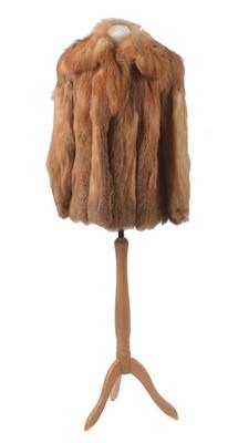 Lot A fox fur coat