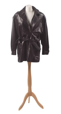 Lot 32 - A leather coat by Burberry