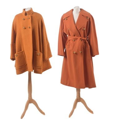 Lot 52 - Two orange coats by Guy Laroche