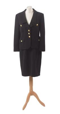 Lot 16 - A black suit by Guy Laroche