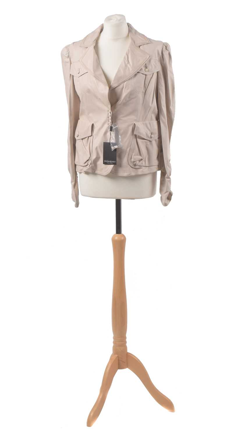 Lot 33 - A leather jacket by Yves Saint Laurent