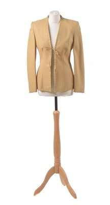 Lot 82 - A leather jacket by Escada