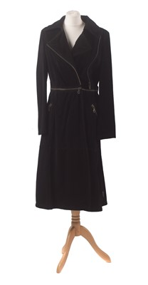 Lot 34-A two-in-one suede coat by Armani Jeans