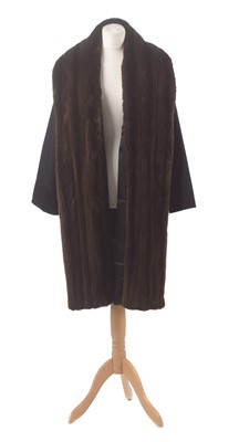 Lot 133 - A cashmere and fur coat by Maxmara