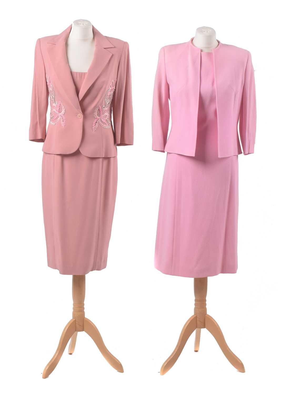 Lot 11 - Two designer pink sets