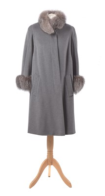 Lot 24-An angora wool and fur coat by Basler