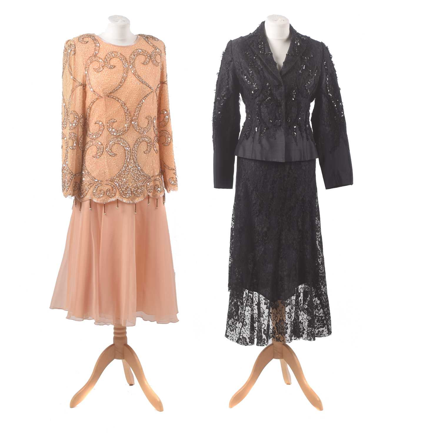 Lot 30 - Two beaded lace sets