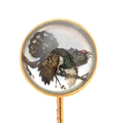 Lot 68 - An early 20th century reverse carved intaglio stickpin, by Ernst Paltscho