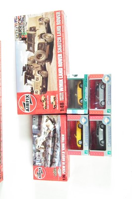 Lot 4-Airfix 1930 Bentley 1:12 scale kit and two others