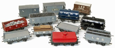 Lot 68-Various 16mm gauge rolling stock including two fuel oil tankers, three open coal wagons (11).