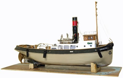 Lot 59-Scale model of a tug boat 'Sanson'.