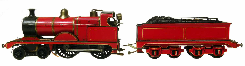 Lot 47-O gauge live steam spirit fired locomotive