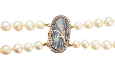 Lot 129 - A cultured pearl necklace