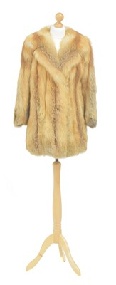 Lot 64 - A fox fur coat
