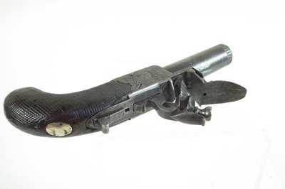 Lot -Flintlock boxlock pistol by Hill London