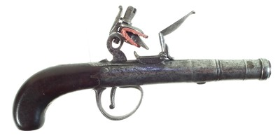 Lot 24-Queen Anne Flintlock pistol by Waters