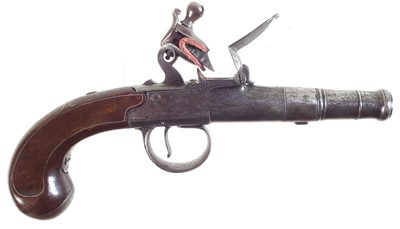 Lot 25-Queen Anne Flintlock pistol by Richards