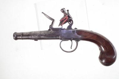 Lot -Queen Anne Flintlock pistol by Richards