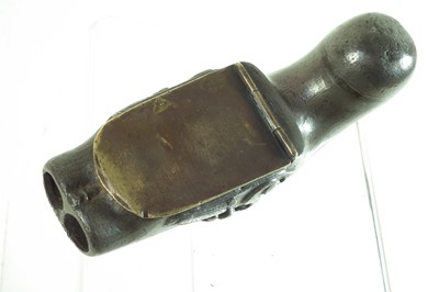 Lot 26-Pewter pistol snuff box