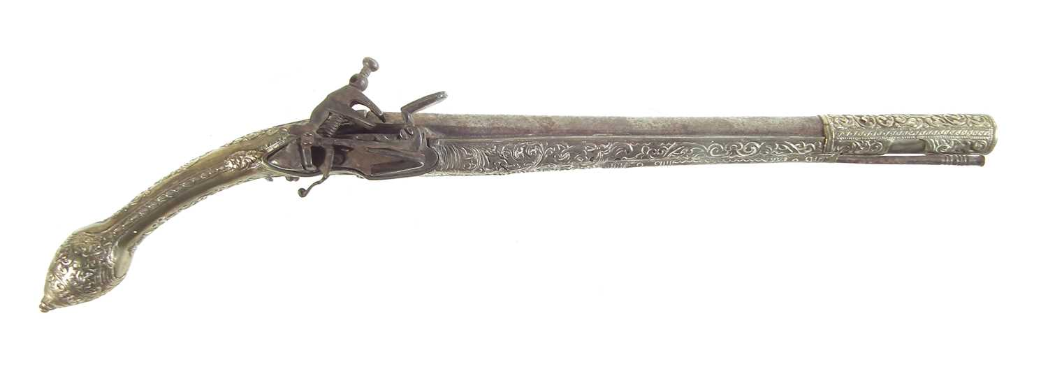 Lot 22-Persian Miquelet lock pistol
