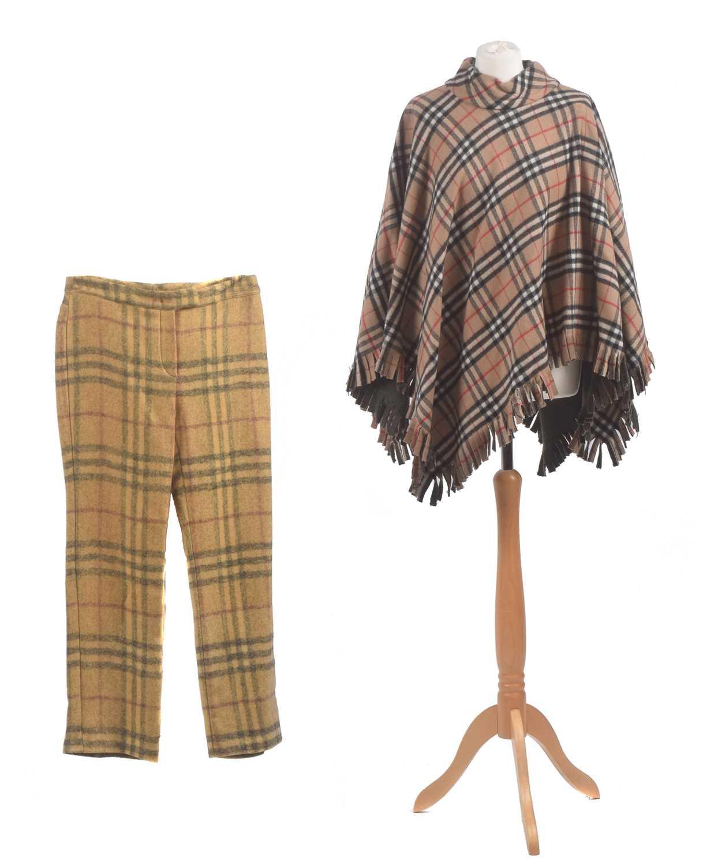 Lot 15 - A Burberry wool poncho