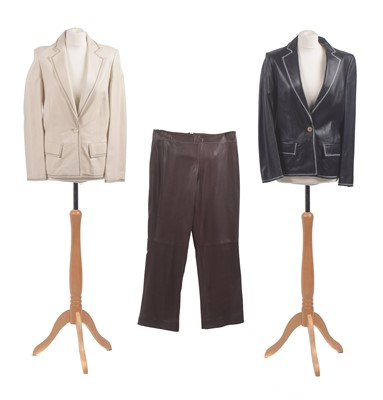 Lot 20-A selection of leather clothing by Mulberry