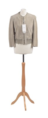 Lot 52 - A suede jacket by Armani Collezioni