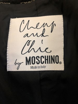 Lot 118 - A velvet jacket by Moschino