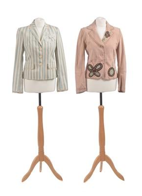 Lot Two jackets by Moschino