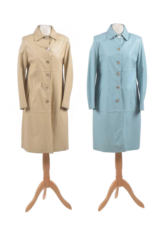 Lot Two leather jackets by Harrods of Knightsbridge
