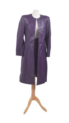 Lot 102 - An Escada purple leather set