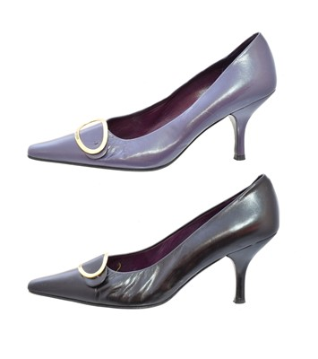 Lot 104 - Two pairs of Balmain heels